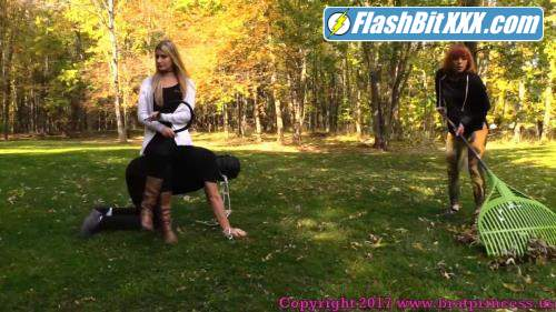 Chloe, Lizzy - Pony slave Ridden Around the Grounds while slave girl Does Yard Work [FullHD 1080p]