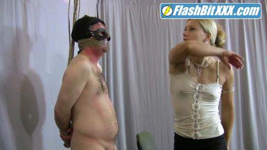 Lady Zita - EXTREMELY CRUEL FACE SLAPPING clip with MILKING humiliation [HD 720p]
