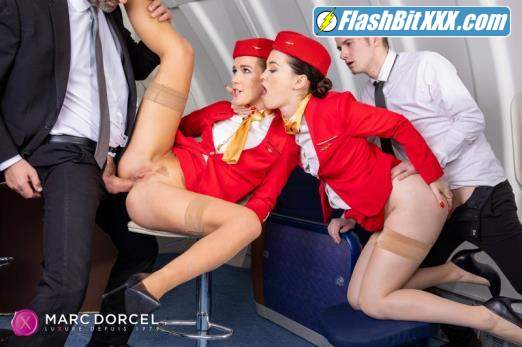 Alexis Crystal, Misha Cross - Horny flight on Dorcel Airline [FullHD 1080p]