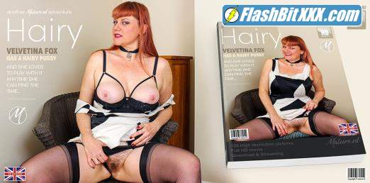 Velvetina Fox (EU) (43) - Naughty mature Velvetina Fox loves playing with her hairy pussy [SD 540p]