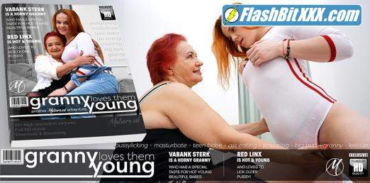 Red Linx (24), Vabank Sterk (64) - Big hairy granny licking a hot young red haired teeny babe [SD 360p]