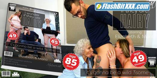 Elizabeth (49), Maria (85) - A hairy granny threesome goes extremely wild [FullHD 1080p]