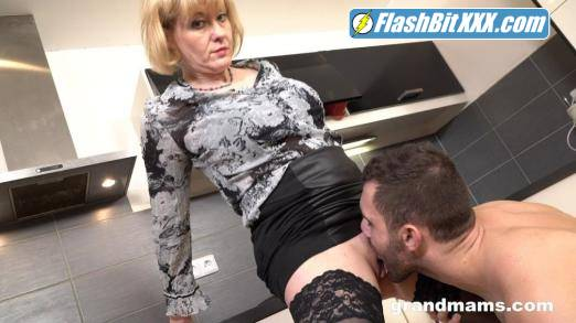 Domina - Grandma Domina demanding her young sex Slave to fuck her cunt [FullHD 1080p]