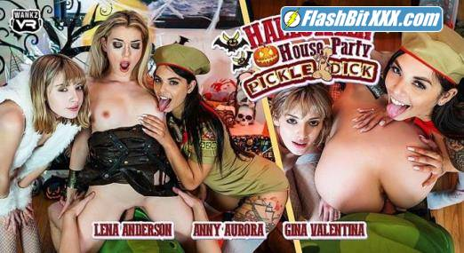 Anny Aurora, Gina Valentina, Lena Anderson - Halloween House Party: Pickle-Dick [UltraHD 4K 2300p]