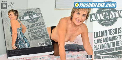 Lillian Tesh (58) - Naughty mature Lillian Tesh is playing with her shaved pussy in her bedroom [FullHD 1080p]