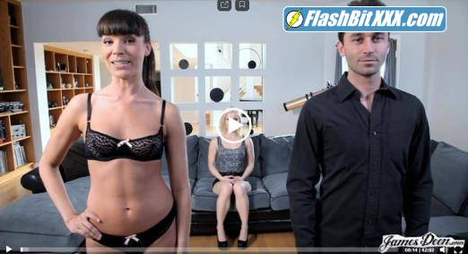 Ash Hollywood, Dana Dearmond, James Deen - Ash Hollywood tag teamed by James Deen and Dana Dearmond [HD 720p]