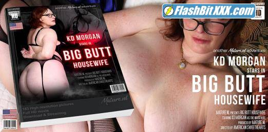 KD Morgan (35) - Big butt housewife KD Morgan playing with her vibrator [FullHD 1080p]