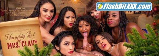 Alexa Nova, Alona Bloom, Avery Black, Hime Marie, Kaiya Rose, September Reign, Sheena Ryder - Naughty List of Mrs. Claus [UltraHD 4K 3840p]