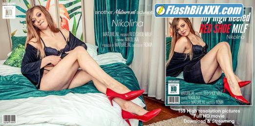 Nikolina (42) - MILF Nikita shows off her red high heels shoes and a whole lot more [HD 1066p]